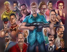 GTA Vice city (characters) by huzzain