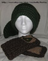 Legend of Zelda Hat and Gloves Set by DarkwingFrog