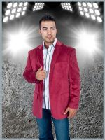 Mens Stylish two Button Sport Jacket Burgundy by mensusasuits