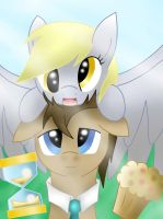 Doctor and Derpy by pikashoe90