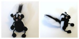 Crochet Skunk Doll by Windowsillcharms
