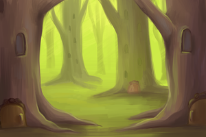 Forest Color Study by pettyartist