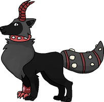 Red Horn Wolf by Hella-Majestic