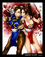 mai vs chun li -snk vs capcom- by megaween