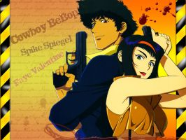 Cowboy Bebop: Spike and Faye. by MusashiChan69