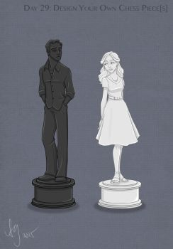 Day 29: Design Your Own Chess Piece by kuabci