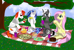 Out on a Picnic by x-Flamerunner-x