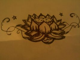 x.x lotus flower design x.x by hikariix3