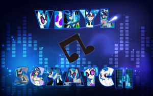 MLP Wallpaper-Vinyl Scratch/DJ Pon-3 by DaChosta