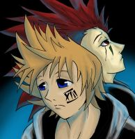 Roxas and Axel by NickSwift