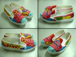 Dino Shoes by flyingblind
