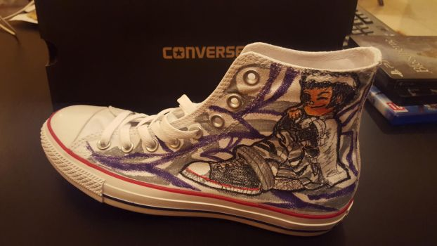 Drago-Flame Converse by drago-flame