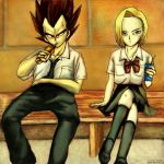 Vegetto - Nuooon:  Vegeta - 18 at the school DBZ by vegetto-vegito