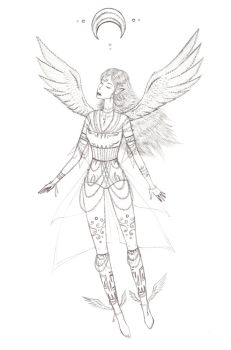 winged girl by Xotary