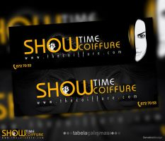 Showtime Kuafor Signage by Servetinci
