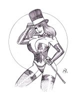 Cute Busty Magician by MichaelPowellArt