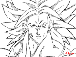 Broly Reference draw Paint by ShynTheTruth