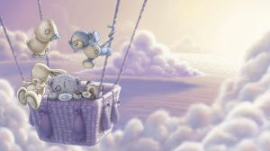 Tatty Teddy and My Blue Nose friends sky scape by ShaneMadeArt