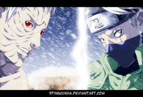 Naruto 686 - Obito and Kakashi by StingCunha
