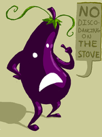 Eggplant Man Says... by PineappleSodaCat