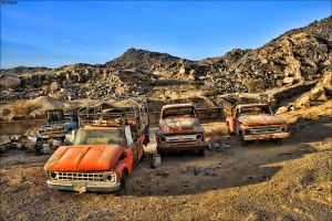 old sad cars by fahad8702