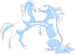 fight fight fight by Horsey-lineart