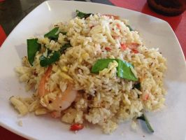 Spicy Thai Seafood Fried Rice by nosugarjustanger