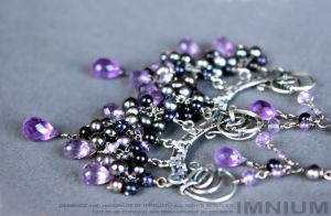 Violet earrings by IMNIUM