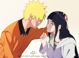 NaruHina Drawing game by angelcake12