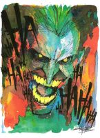 Watercolor Laughing Mad by KidNotorious
