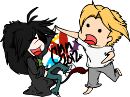 Dancing With Steve Rogers -Chibis- by BloodLust-Carman