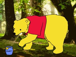 A Pooh Bear in the Wild by homicidalxfish
