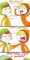 want a banana KYLE? by isaygorawr