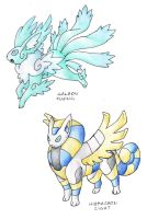 Eeveelutions 5 by darksilvania