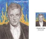 Twelfth Doctor - Pencil Mini Portrait by DegasClover