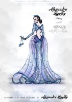 SAPPHIRE GOWN by AlexandraVeda