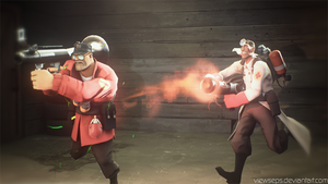 Team Fortress 2 (TF2) - Soldier en Medic by ViewSEPS
