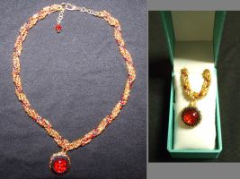 Renaissance Ruby Necklace by Binkees-Baubles