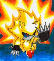 Super Metal Sonic, varient. by woodduckprime