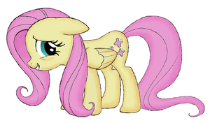 My Fluttershy [colored] by Ap0st0l