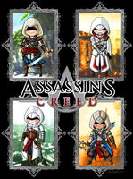 Assassin's Creed Chibi Poster by YukiMiyasawa