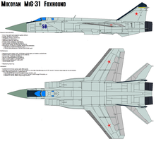 MiG-31 Foxhound by bagera3005