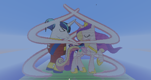 Cadence and Shining Armor Pixel Art by SixSamMaster