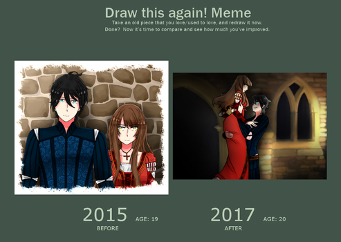 Draw This Again Meme - Our Secret - 2017 by Shiunee