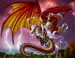Super Powered Bestiary: Red Dragon by ProdigyDuck