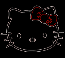 Hello Kitty - Neon by naspee