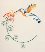 Hummingbird - Paper Quilling by 6re9
