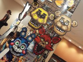 ( Hurricon 2015 ) Five Nights at Freddy's Perlers by KrazyKari