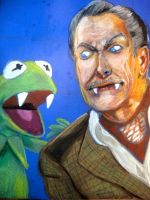 Vincent Price and Kermit by BlackHarpyGoddess