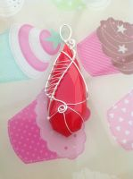 Red pendant by Taffy-art